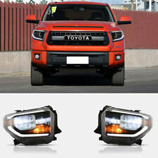 LED Projector Headlights For Toyota Tundra 2014-2019 Sequential Dual Beam DRL