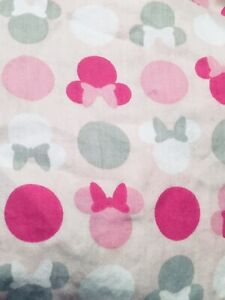 DISNEY MINNIE MOUSE CRIB TODDLER BED SHEET FITTED PINK GRAY MULTI COLOR