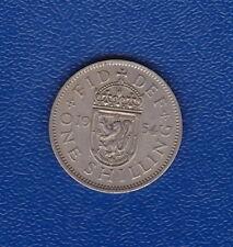 1954 UK Great Britain - One Shilling  QEII - (SCOTTISH CREST)  Very Fine
