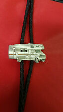 Motorhome, Winnibego Bolo Tie with Braided Leather Tie. Superb Condition.