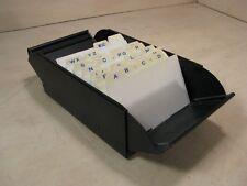 Vtg Metal Business Card File Tray Holder Lion 480 Desk Organizer With Dividers