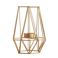 WIRE IRON GEOMETRIC CANDLE HOLDER TEALIGHT MOOD LIGHT HOLDER LANTERN DECOR L