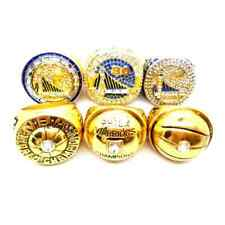 6pcs/set Golden State Warriors Rings Size 11 In wood Box