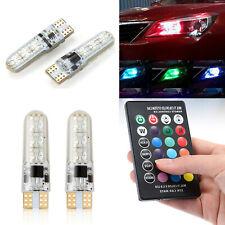 2X T10 W5W RGB 6 SMD LED Flash Strobe Wedge Light Bulb 5050 Remote Control RD743