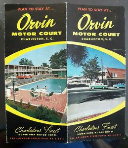 Vintage ca. 1959 Orvin Motor Court Charleston, S.C. Brochure