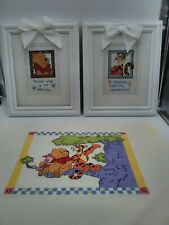 3 Winnie The Pooh Counted Cross Stitch Disney  2 in a frame.