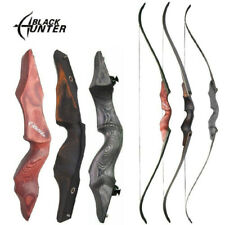 """BLACK HUNTER 60"""" Recurve Bow Arrow Rest Takedown 25-60lbs Archery Wooden Hunting"""
