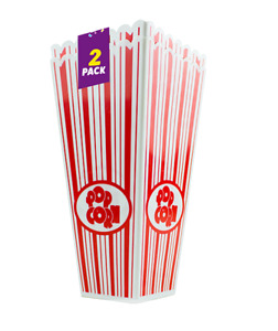 Plastic Novelty Popcorn Carton Box Container or Bag Movie Party Snacks