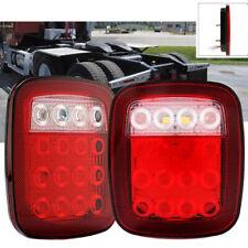 2x Stop Turn Tail Brake Backup 16 Led Marker Light For Trailer Jeep Semi Truck