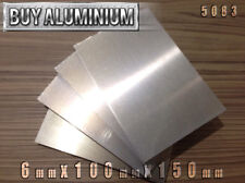 6mm Aluminium Plates / Sheets 150mm x 100mm - 5083