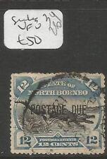 North Borneo Postage Due SG D8b Crocodile VFU (4cln)