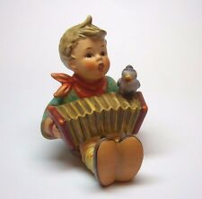 """MJ HUMMEL LETS SING #110 TMK-5 THE LAST BEE  3.25"""" BOY WITH BIRD AND ACCORDIAN"""