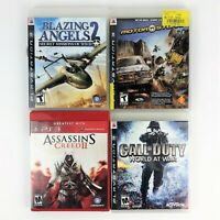 Lot of 4 PS3 Games Clean Discs, Complete & Tested Blazing Angels 2, World At War