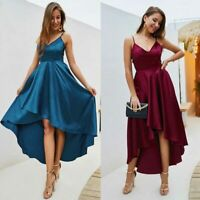Summer ball gown solid long boho sundress Women cocktail maxi dress party beach