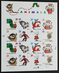 U.S. Used #3987 - 39394 39c Childrens Book Animals. Sheet of 16. Lovely Cancels.