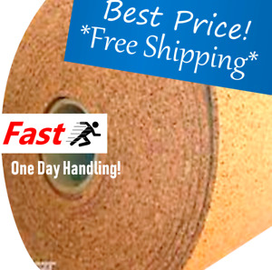 "CORK Board Cork Roll 4' ft wide (BY THE FOOT) 1/4"" thck 1 ROLL CHOOSE SIZE"