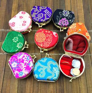 wholesale 20pcs CHINESE HANDMADE CLASSIC SILK jewelry boxes