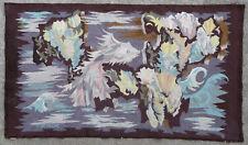 Tapisserie ancienne tapis ancien rug Europeen Français France Aubusson 1940