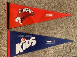 MISL San Francisco Fog & Cincinnati Kids Full Size Soccer Pennants