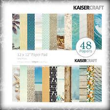 Kaiser Craft Bastelpapier / Paper Pad - Urlaub, Sonne Strand Meer - 30 x 30cm