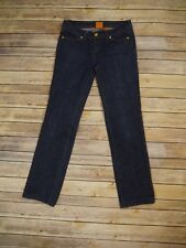 Tory Burch Skinny Jean Dark Wash Gold Button Denim Blue Jeans Size 26 Waist Pant