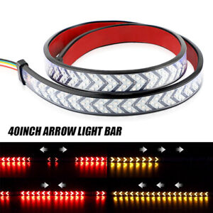 "40"" LED Truck Tailgate Light Bar Strip Reverse Brake Tail Flowing Turn Signal"