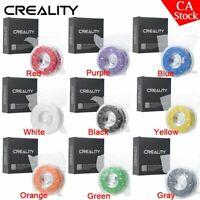 US Creality 9 Colors 1.75mm 1KG Spool PLA Printer Filament for Ender 3 pro 5plus