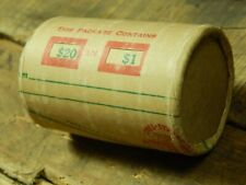 $20 SILVER DOLLAR ROLL MORGAN PEACE DOLLAR MIXED DATES COVERED END COINS
