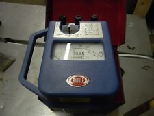 BIDDLE 250260 MEGGER DIRECT READING EARTH TESTER W/ CASE FREE SHIPPING