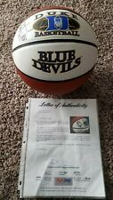 HOF Coach MIKE KRZYZEWSKI Signed DUKE Blue Devils Logo BASKETBALL w/ PSA DNA