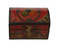 Caja De Joya Tibetano 15cm Artesanía Tibet-Nepal-9766