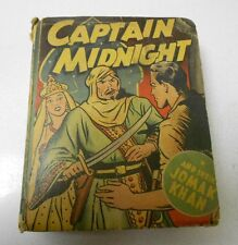 1946 Captain Midnight And Shiek Jomak Khan Big Little Book Fn