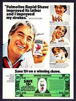 1976 Tennis Star Pancho Gonzales photo Rapid-Shave Ad