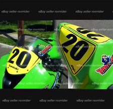 trackday or race numberplate set fits 2009 2010 2011 2012 kawasaki zx6 zx6r