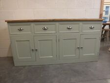 RUTLAND PAINTED 4 DOOR SIDEBOARD HAND MADE ROUGH SAWN BESPOKE SIZES FRENCH GRAY