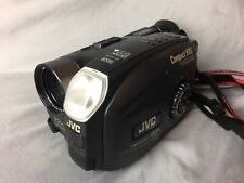 JVC GR-AX730 VHS-C Analog CAMCORDER Used Works Rechargeable Batteries (6) TC-30