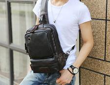 Trendy Men Satchel Bags PU Leather Backpack Men's Tactical Chest Shoulder Bag