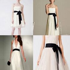 Women Sweet Bowknot Satin Ribbon Waistband Waist Belt Wedding DIY Silk Sash Hot