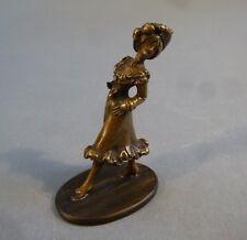 Jugendsti Miniatur Bronze Figur Skulptur Frau Belle Époque 6,6 cm hoch um 1890