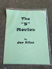 The B Movies By Jon Allen Magic Lecture Notes