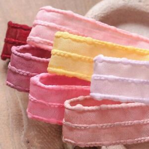5 yards Jump Point Rough Edge Mesh Hollow Ribbons Diy Craft Accessories