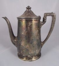 Vintage Reed & Barton Silver Soldered Hotel Covered Coffee Pot 2300 C 4 P EUC