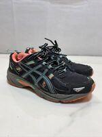 Asics GEL-VENTURE 5 Trail Run Shoes T5N8N Women's Size 7 Black Teal Pink Neon