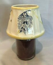 Unbranded Candle Jar Topper Shade ~ Blue Floral with Yellow Trim