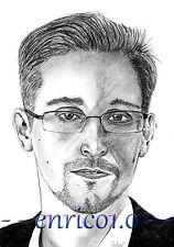 Edward Snowden Zeichnung Graphit / Bleistift, Portrait, Unikat