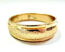 AC6 Beautiful solid 14K Yellow GOLD Wedding Band Ring size 8.25
