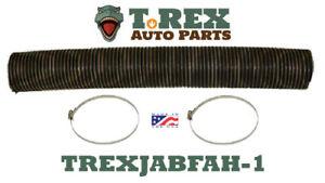 "Willys Pickup/Wagon 4 1/2"" diameter Fresh Air Box Hose pre-cut 38"" w/ hose clamp"