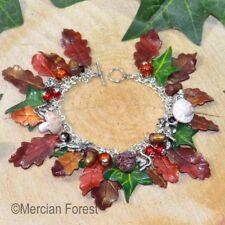 Autumn Forage Charm Bracelet - Pagan Jewellery, Wicca, Witch, Equinox, Oak