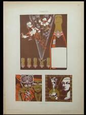 ART NOUVEAU GRAPHIC DESIGN, MARIO STROPPA - 1910 LITHOGRAPH - CHAMPAGNE