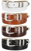 "The Napa - Genuine Leather Italian Calfskin Designer Dress Belt, 1-1/8"" Wide"